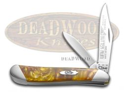 Case xx Peanut Knife Slant Series Butter Rum Corelon 1/2500 Stainless S9220BR