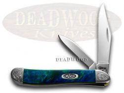 Case xx Peanut Knife Engraved Bolster Aquarius Corelon Stainless Pocket 9220AQ/E