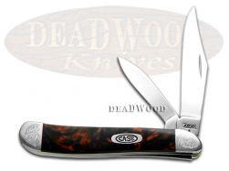 Case xx Peanut Knife Engraved Bolster Black Lava Corelon Stainless 9220BKL/E