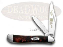 Case xx Peanut Knife Black Lava Genuine Corelon 1/500 Stainless Pocket 9220BKL