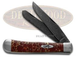 Case xx Painted Pony Damascus Red Matrix Stone 1/200 Trapper 9254DAM-RM Knife