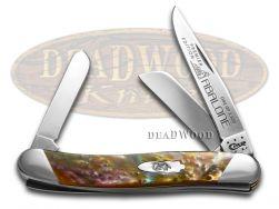 Case xx Medium Stockman Knife Slant Series Abalone Corelon 1/2500 Pocket S9318AB