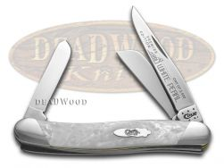 Case xx Medium Stockman Knife Slant Series White Pearl Corelon 1/2500 S9318WP
