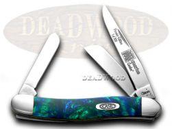 Case xx Med Stockman Knife Aquarius Genuine Corelon 1/500 Stainless 9318AQ-LTD
