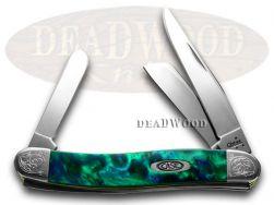 Case xx Medium Stockman Knife Engraved Bolster Aquarius Corelon Pocket 9318AQ/E
