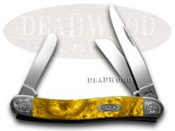 Case xx Medium Stockman Knife Engraved Bolster Butter Rum Corelon 9318BR/E
