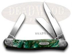Case xx Medium Stockman Knife Engraved Bolster Cloud Land Corelon 9318CL/E
