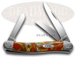 Case xx Medium Stockman Knife Fire In The Box Corelon Engraved Bolster 9318FIB/E