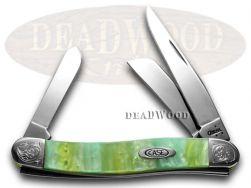Case xx Medium Stockman Knife Engraved Bolster Rainbow Corelon Pocket 9318RB/E