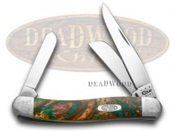Case xx Medium Stockman Knife Engraved Bolster Rain Forrest Corelon 9318RF/E