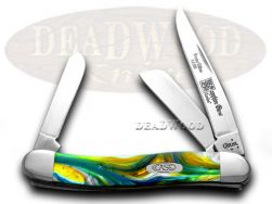 Case xx Med Stockman Knife Sapphire Glow Genuine Corelon 1/500 Stainless 9318SG
