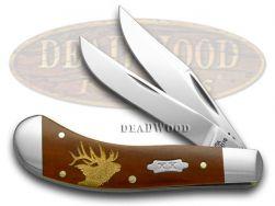 Case xx Saddlehorn Knife Elk Chestnut Bone 1/500 Stainless Pocket Knives 9773E