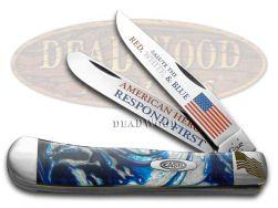 Case xx First Responders Trapper Knife Blue Cloud Corelon American Heroes