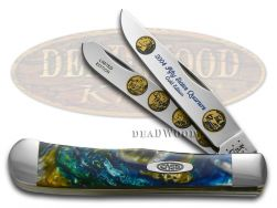 Case xx 2004 Gold State Quarters Trapper Knife Sapphire Glow 1/3000 2004