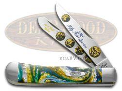 Case xx 2005 Gold State Quarters Trapper Knife Sapphire Glow 1/3000 2005