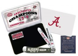Case xx Alabama 2020 Undefeated Champions Trapper Knife White Bone AL20-CATWSB