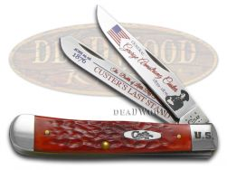 Case xx Trapper Knife Custer's Last Stand Red Bone 1/3000 Stainless CAT-CLS/RPB