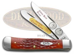 Case xx Trapper Knife & Indian Head Penny Red Bone 1/3000 Stainless CAT-IHP/RPB