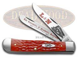 Case xx Trapper Knife L&N Railroad Jigged Red Bone Stainless Pocket CAT-LN/RPB