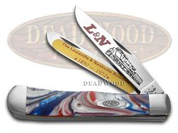 Case xx Trapper Knife L&N Railroad Star Spangled Corelon Stainless CAT-LN/STAR