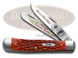 Case xx Trapper Knife Mercury Head Dime Red Picked Bone Stainless Pocket Knives