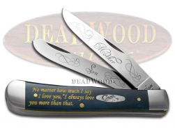 Case xx Mother and Son Trapper Knife Blue Bone Stainless CAT-MS/BB Pocket Knives