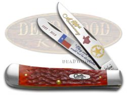 Case xx Trapper Knife Texas Rangers Red Bone 1/3000 180th Anniversary Stainless