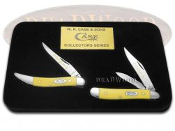 Case xx Father Daughter Peanut & Toothpick Knife Set Yellow Delrin 1/500 CV