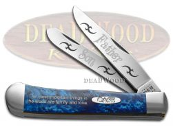 Case xx Father & Son Trapper Knife Blue Silk Corelon 1/500 Stainless Knives