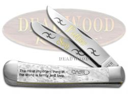 Case xx Trapper Knife Father and Son White Pearl 1/500 Stainless Pocket Knives