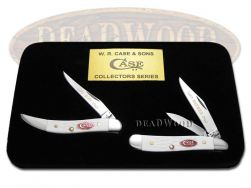 Case xx  Father and Son Peanut & Toothpick Knife Set White Delrin 1/600