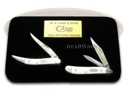 Case xx Father Son Peanut & Toothpick Knife Set White Delrin 1/500 Stainless