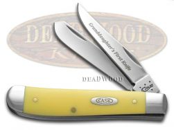 Case xx Granddaughter's First Mini Trapper Knife Yellow Delrin Stainless Pocket