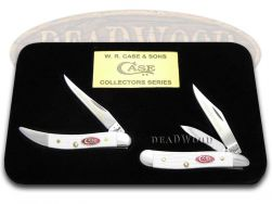 Case xx Grandfather Granddaughter Peanut & Toothpick Knife White Delrin 1/600