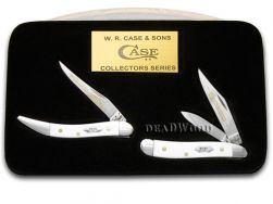 Case xx Grandfather Granddaughter Peanut & Toothpick Knives White Delrin 1/600