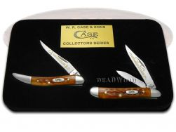 Case xx Grandfather Grandson Peanut & Toothpick Knife Set Harvest Orange 1/500