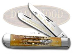 Case xx Father's Day Trapper Knife 6.5 Bone Stag 1/999 Dad Stainless 6.5-HFD