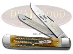 Case xx Happy Father's Day Daddy Trapper Knife Bone Stag 1/500 Stainless Pocket