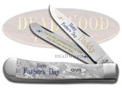 Case xx Happy Father's Day Daddy Trapper Knife White Pearl Corelon 1/500 Pocket