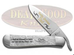 Case xx World's Greatest Dad Russlock Knife White Pearl Corelon Stainless