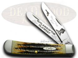 Case xx Trapper Knife Billy The Kid 6.5 Bone Stag 1/600 Outlaws of the Old West
