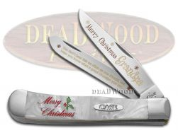 Case xx Merry Christmas Grandpa Trapper Knife White Pearl Corelon 1/500 Pocket