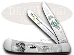 Case xx Trapper Knife Bass Fever White Pearl 1/500 Stainless Pocket Knives