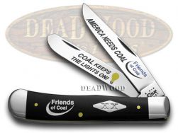 Case xx Trapper Knife America Needs Coal Friends of Coal Black Delrin 1/500