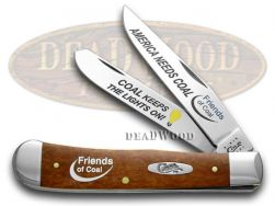 Case xx Trapper Knife America Needs Coal Friends of Coal Chestnut Bone 1/500