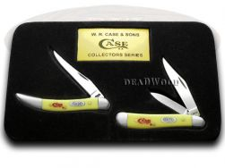 Case xx Peanut And Toothpick 2 Knife Set Yellow Delrin 1/500 CV Pocket Knives
