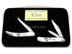 Case xx Peanut Toothpick Knife Set Bass Fever White Delrin 1/500 Fishing Pocket