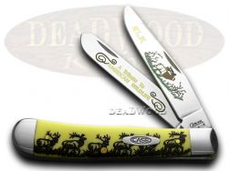 Case xx Trapper Knife Walking Elk Yellow Delrin 1/600 Stainless