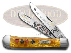Case xx Trapper Knife Texas Hold'Em Antique Gold Corelon 1/600 Stainless AG-TH