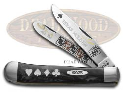 Case xx Trapper Knife Texas Hold'Em Black Pearl Corelon Stainless Pocket Knives